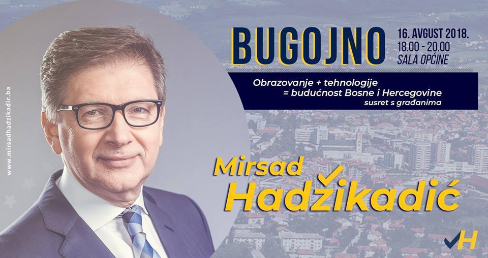 Prof. dr. Mirsad Hadžikadić u Bugojnu: Susret s građanima «Obrazovanje + tehnologije = budućnost BiH»